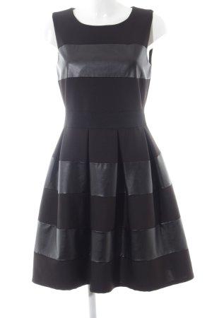 Apart Cocktailkleid schwarz Streifenmuster Elegant
