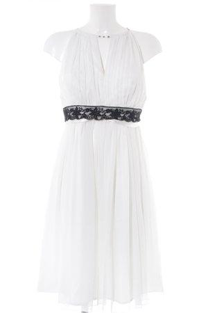 Apart Cocktailkleid weiß-schwarz Elegant