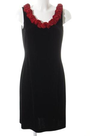 Apart Cocktailkleid schwarz-rot Blumenmuster Elegant