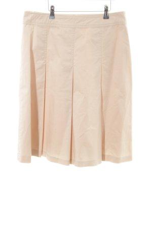 Apart Plaid Skirt cream casual look