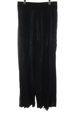 Apart Fashion Linnen broek zwart simpele stijl