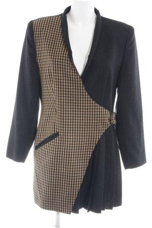 Apart Fashion Oversized Mantel schwarz-creme Karomuster extravaganter Stil