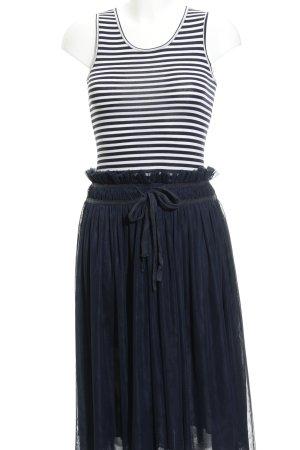 Apart  glamour Vestido línea A azul oscuro-blanco rayas horizontales Paris-Look