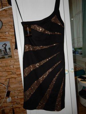 APART Glamour Abendkleid 36 NEU Schwarz Gold
