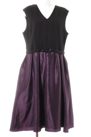 Apart  glamour Vestido ceñido de tubo negro-rojo zarzamora elegante