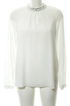 Apart  glamour Blusa de manga larga blanco elegante