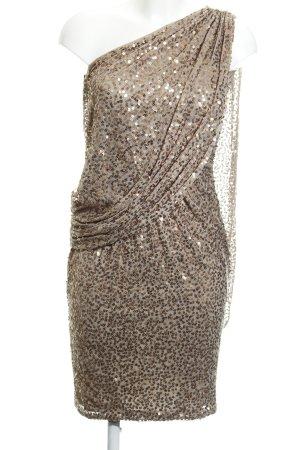 Apart  glamour Vestido de lentejuelas beige-color bronce elegante