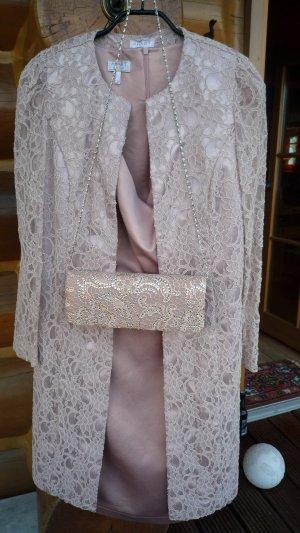 Apart  glamour Tailleur vieux rose tissu mixte