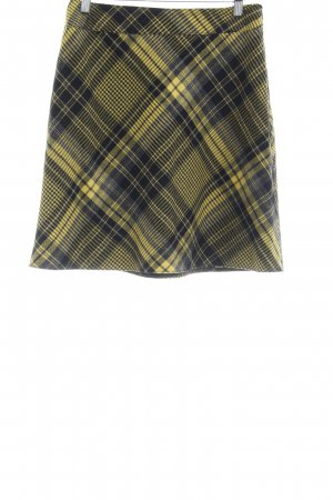 Apart Flared Skirt glen check pattern casual look