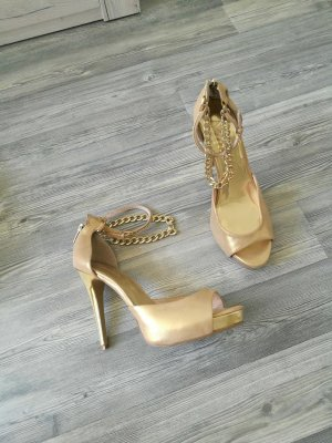 Apart golden Riemchen Heels Glamour