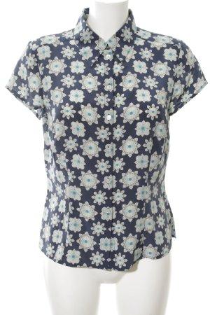 Apart Hemd-Bluse wollweiß-blau Allover-Druck Casual-Look
