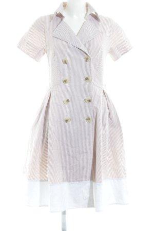 Apart Abito blusa camicia bianco-beige motivo a righe Stile anni '70