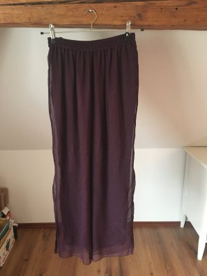 Apart Hose Stoffhose 20 40 L lila braunviolett violett schlaghose