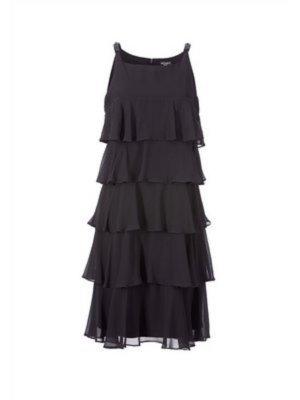 APART IMPRESSIONS Chiffon Kleid Hochzeit Party FLAPPER DRESS Gr. 42 schwarz