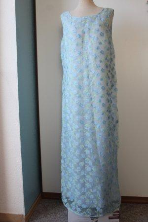 Apart Impressions Kleid Maxi 1,40m Festmode hellblau Gr. 44 Blumen Chiffon