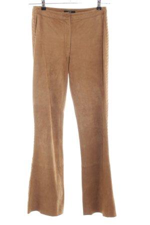 Apart Impressions Pantalone in pelle arancione chiaro stile casual