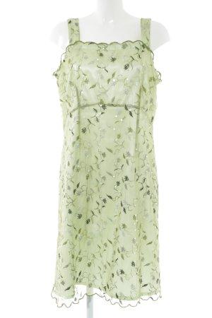 Apart Impressions Pinafore dress green allover print elegant
