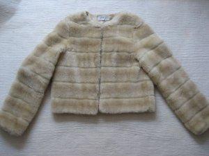 apart jakce felljacke kunstfell creme gr. s 34 xs topzustand