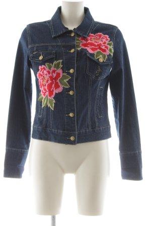 Apart Veste en jean motif de fleur style extravagant