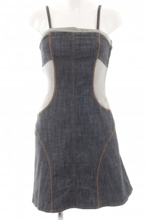 Apart Denim Dress neon blue-light grey casual look