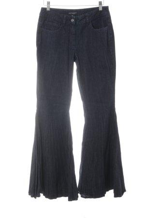 Apart Jeans a zampa d'elefante blu scuro stile casual