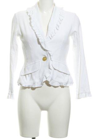 Apart Blazer in jersey bianco stile casual