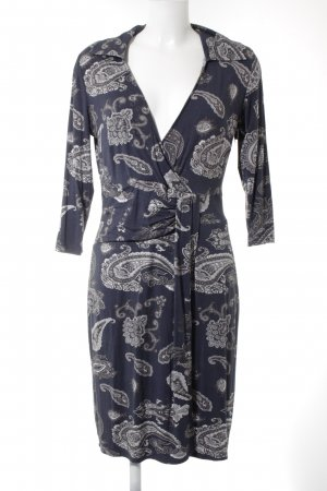 Apart Jerseykleid dunkelblau-grau Paisleymuster Casual-Look