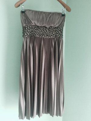 APART Kleid/ Abendkleid in taupe und bronze