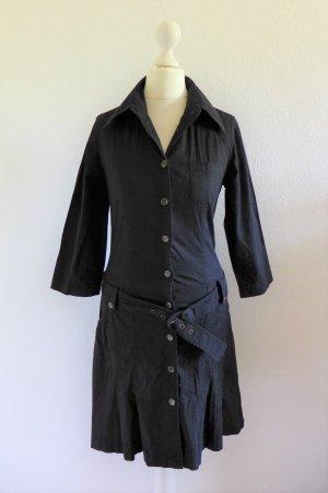 Apart Kleid Gürtel Hemdblusenkleid Safari schwarz Gr. 34