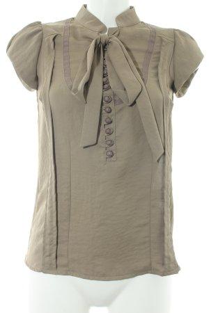 Apart Camicetta a maniche corte marrone-grigio Stile anni '90