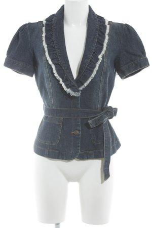 Apart Giacca corta blu acciaio-blu scuro stile da moda di strada