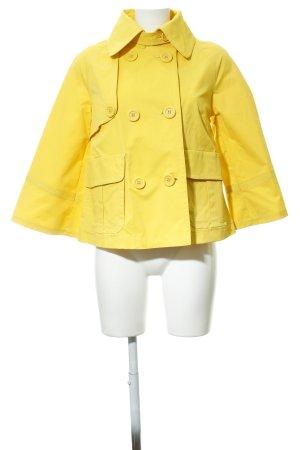 Apart Manteau court jaune Insertions en tissu