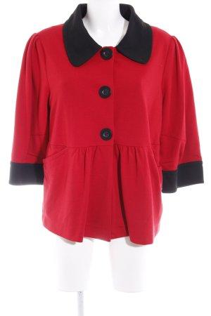 Apart Manteau court rouge-noir style décontracté