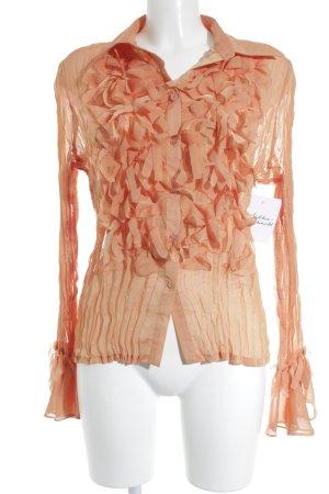 Apart Langarm-Bluse apricot klassischer Stil