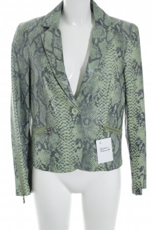 Apart Leather Blazer grass green-dark green reptile print