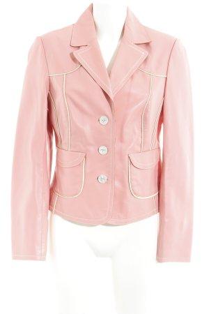 Apart Blazer de cuero rosa estilo extravagante