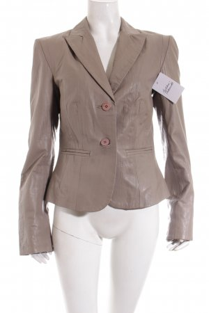Apart Leather Blazer taupe classic style
