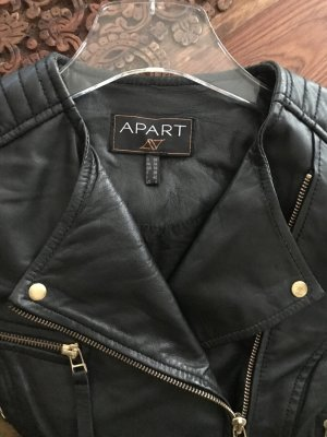 Apart Leather Jacket black-gold-colored