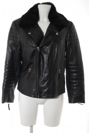 Apart Leather Jacket black biker look