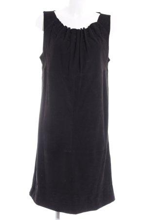Apart Leren jurk zwart elegant