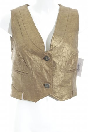 Apart Leather Vest gold-colored extravagant style