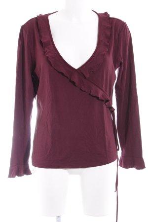 Apart Lang shirt bordeaux-karmijn casual uitstraling