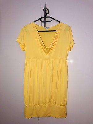 APART Longshirt Shirt in Ballonform Tunika Wasserfallausschnitt gelb Größe 34