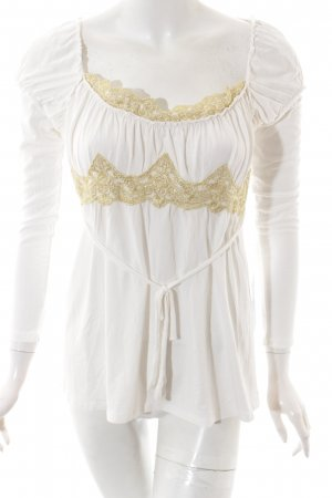Apart Longsleeve cream-gold-colored extravagant style