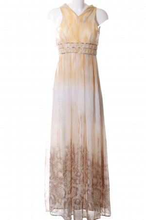 Apart Maxi Dress cream-light orange abstract pattern elegant