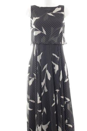 Apart Maxikleid schwarz-beige Nadelstreifen klassischer Stil