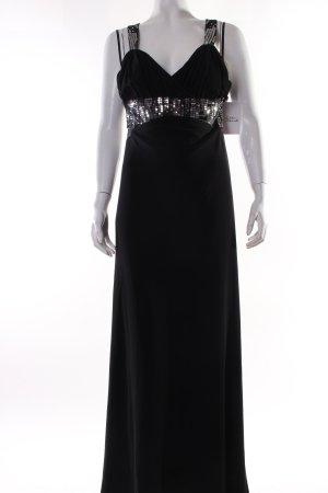 Apart Maxikleid schwarz-silberfarben Elegant
