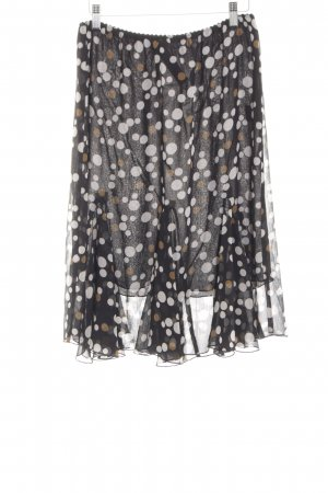 Apart Falda midi estampado a lunares look casual