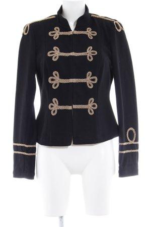 Apart Chaqueta militar negro-beige estampado con diseño abstracto look militar