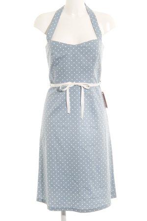 Apart Neckholderkleid blassblau-weiß Punktemuster 20ies-Stil